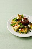 Frittata al confit di peperoncino (omelette with chilli confit)