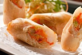 Spring rolls with vegetable filling