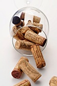 Corks in a wine glass