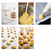 Profiteroles being made (English Voice-Over)