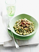 Bowl of herbed couscous