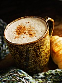 Latte in a Mug with Cinnamon