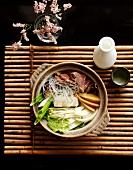 Sukiyaki with Sake
