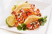 Soft Shell tacos mit Garnelen
