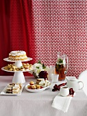 Dishes of cake, cookies and pastries