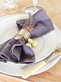 An Easter place setting