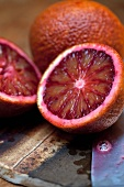 Blood Oranges; Whole and Half