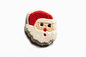 Santa Claus Cake Decoration; White Background