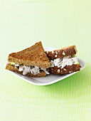 Chicken Salad Sandwich on Toasted Rye Bread