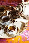 Dumplings with Broth Served in Tea Cups