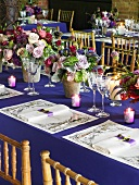 Tables Set for a Wedding Reception