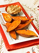 Roasted Sweet Potatoes with Cinnamon Butter
