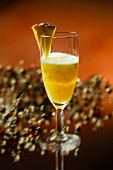 Pineapple with prosecco