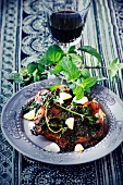 Lamb steaks with peppermint pesto