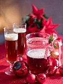 Red wine punch for Christmas