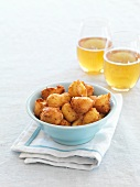 Cheese beignets with beer