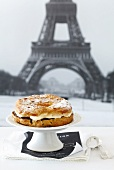 Paris Brest with a chocolate cream filling