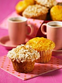 Orange and rum muffins with dessicated coconut