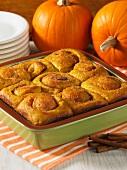 Pumpkin and cinnamon buns