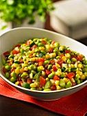 Succotash with soya beans (USA)