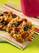 Oat biscuits with dried fruit and chocolate chips