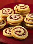 Pinwheel cookies with a raspberry filling