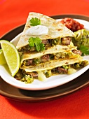 Quesadillas with beef