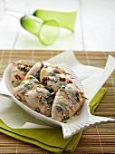 Calamari gefüllt mit Gemüse, Krabben- & Krebsfleisch