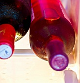 Chilled wine bottles