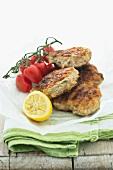 Grilled chicken burgers with coriander