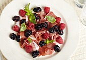 Prosciutto and Fruit Appetizer