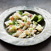 Ceviche with a chilli and lime dressing