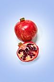 Half and Whole Pomegranate