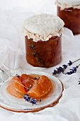 Peach jam with lavender