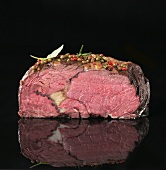 Entrecote steak, partly sliced