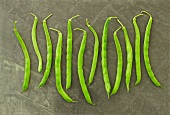 Row of Whole Fresh Green Beans