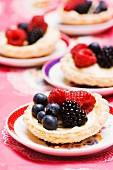 Berry custard tarts