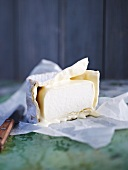 Goat's cheese on paper