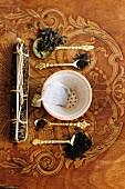 An arrangement of tea featuring various types of black tea