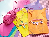Making hand-crafted invitation cards