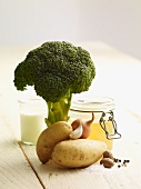 Ingredients for broccoli soup