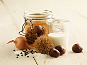 Ingredients for chestnut soup