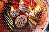 Buffalo Sirloin and Vegetables on the Grill