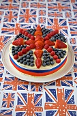 Union Jack Cake on Union Jack Background