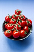 Close up of bowl of cherry tomatoes