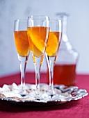 Christmas liqueur with oranges