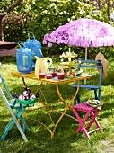 A Caribbean buffet on a garden table