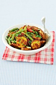 Potato curry with green beans