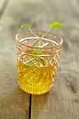 Mint tea in a glass