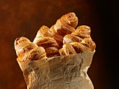 Croissants in a paper bag